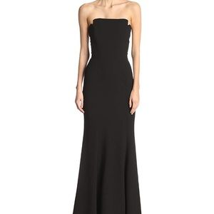 Jill Jill Stuart Black Strapless Mermaid Gown